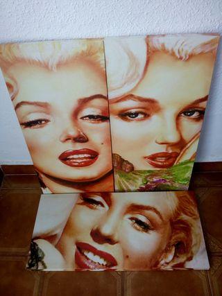 3 Cuadros de Marilyn Monroe