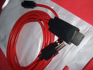 Cable MHL a MicroUSB para conectar Tablet a TV