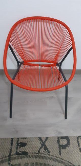2 sillones de jardín en hilo de resina
