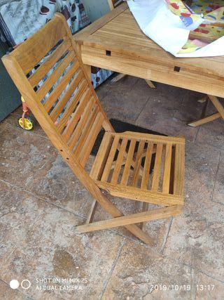 4 sillas de teka