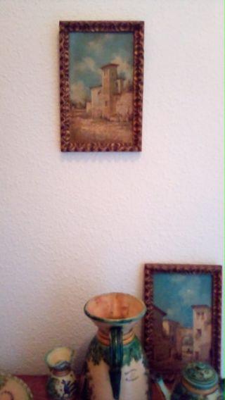 cuadro de pintor antigüedad... dos cuadro