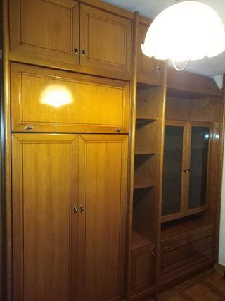 mueble dormitorio esquinero de madera de pino