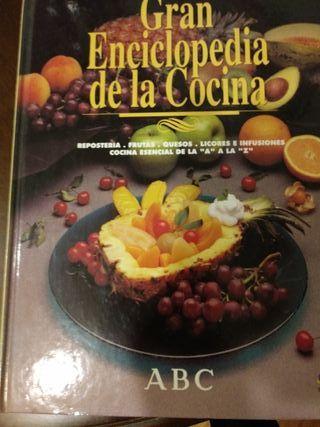 Un tomo de la Enciclopedia de la cocina