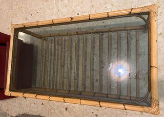 Mesa de centro salón con cristal