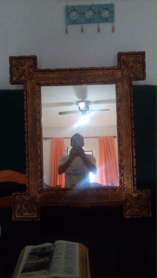 Cuadro de espejo grande cuadro tallada