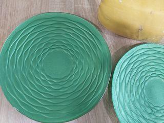 Platos vintage de vidrio resistente