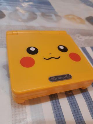 Game boy advance sp Edición Pikachu
