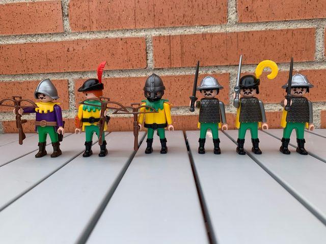Playmobil arqueros y soldados medievales