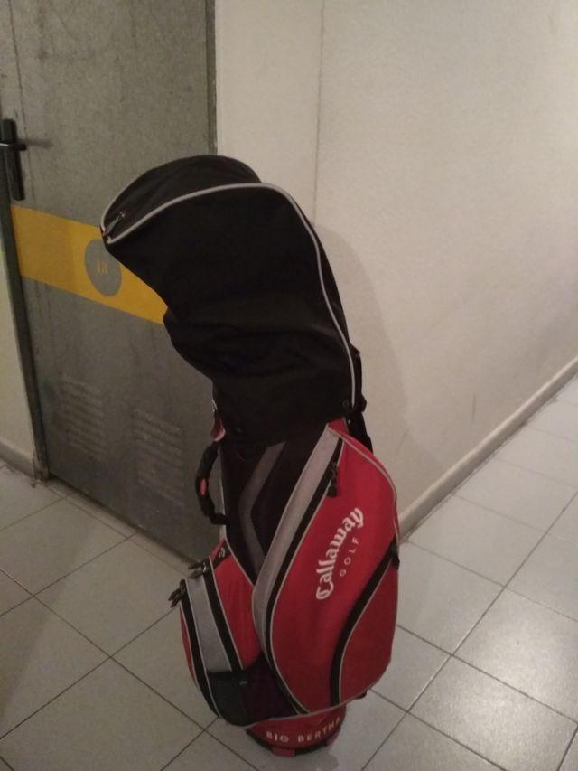 Bolsa palos golf Callaway raja, blanca y negra