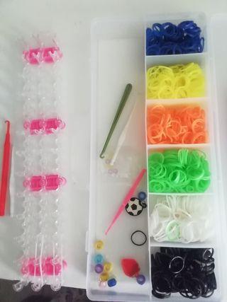 kit de gomas para hacer pulseras