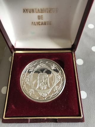 Medalla santa faz plata