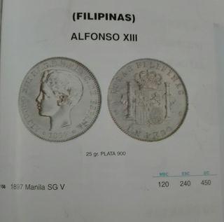 1 peso Isla de Filipinas (Manila) 1897
