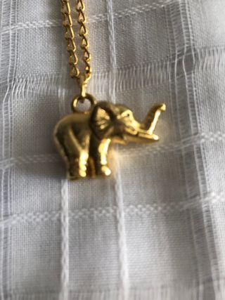 Colgante con cadena elefante de la suerte
