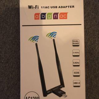 Antena Wifi USB con banda dual de 5.8ghz