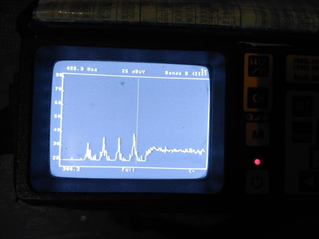 Medidor de campo TV Rover, analógico