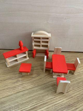 Juguetes para casita madera