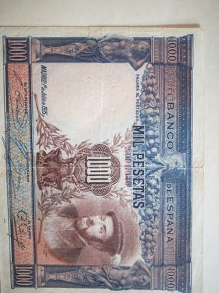 billete de 1000 pesetas 1925