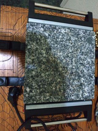 plancha piedra y raclette con accesorios nueva