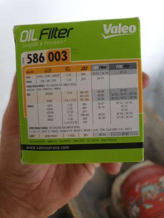 filtró aceite valeo 586003
