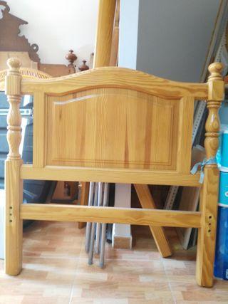 Cama de madera de 90x1.80