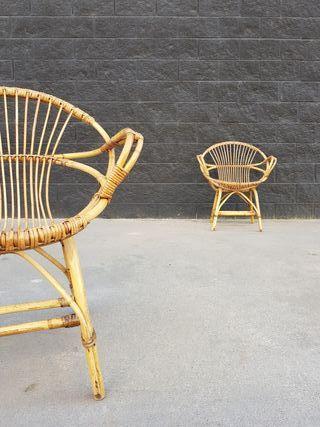 Pareja sillones con reposabrazos. Vintage, 70s.