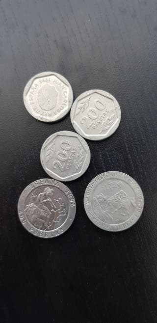 lote monedas 200 pesetas