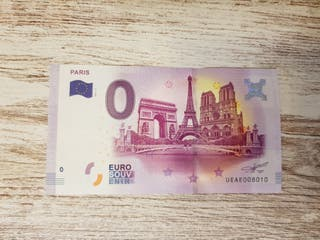 billete 0 euros paris