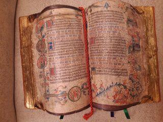 Replica libro antiguo en pan de oro