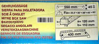 Ingletadora sierra manual para madera.
