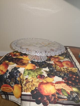 Plato cristal para tartas