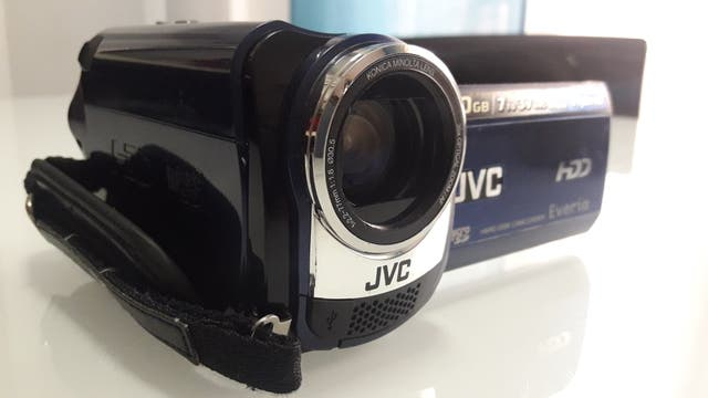 Cámara de video marca JVC