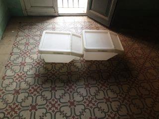 contenedores Ikea blancos apilables