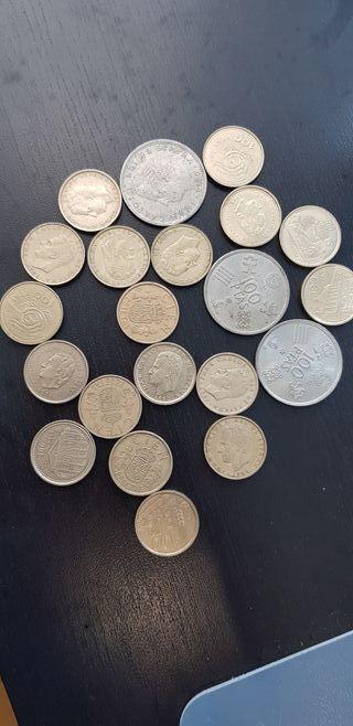 lote monedas 100 pesetas muchas fechas