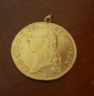 moneda de oro francesa 1789