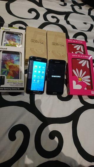 2 samsung Galaxy s5 chinos