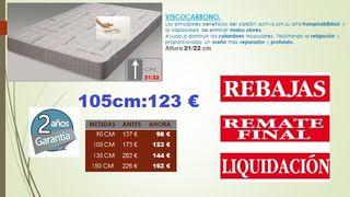 Colchón Visco carbono LIQUIDACION 105 cm