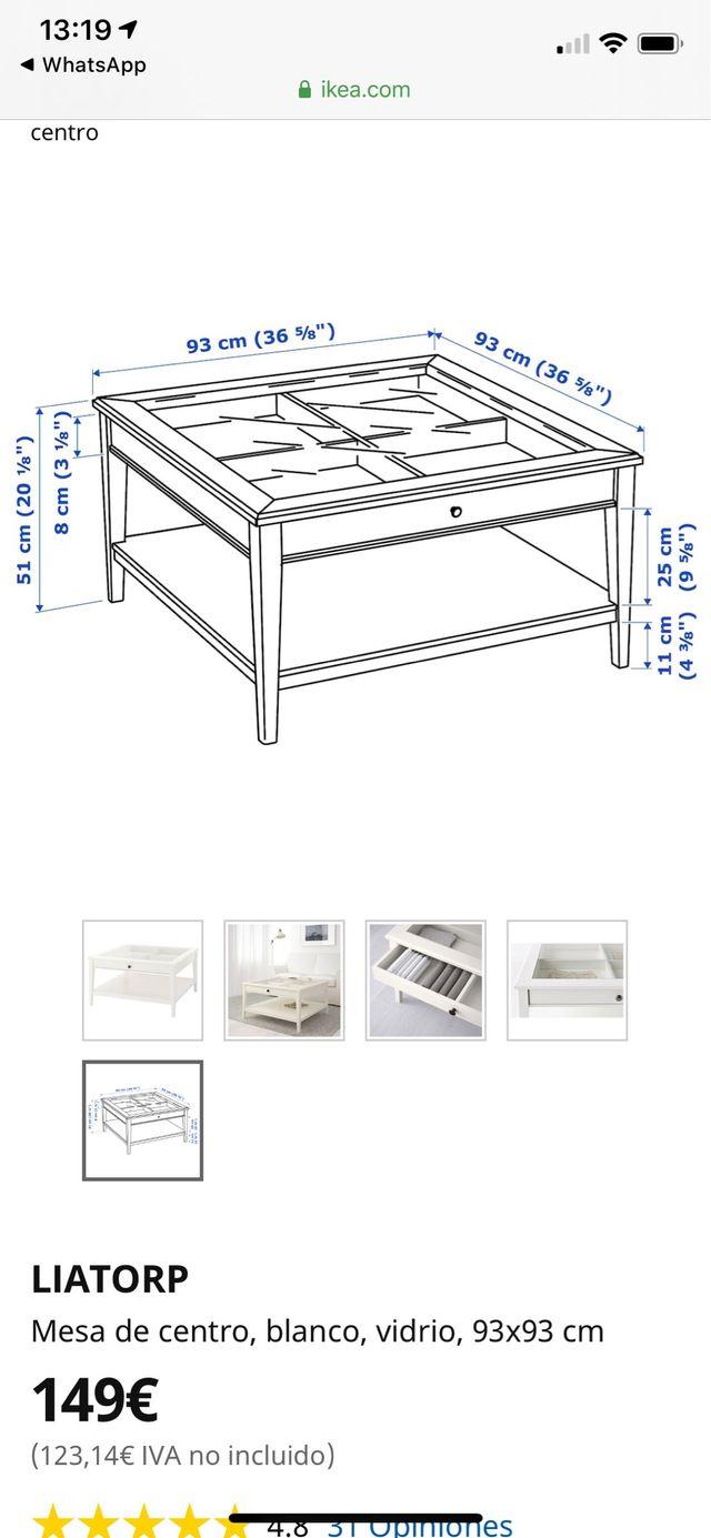 Mesa de centro blanca