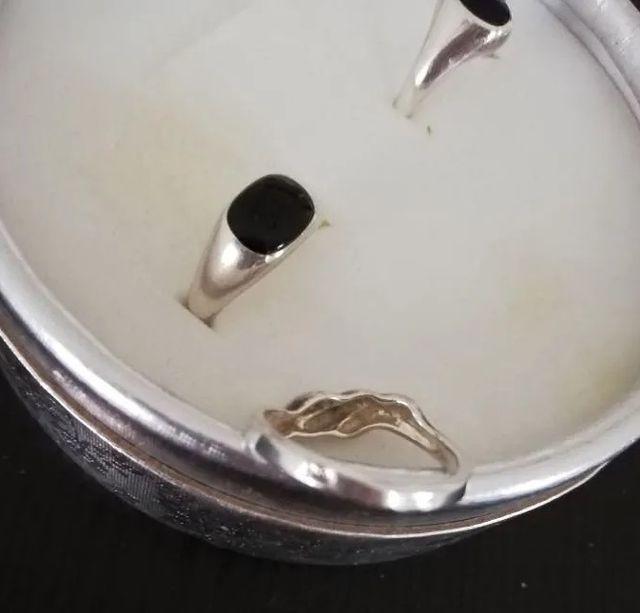 Lote de 2 Sellos anillos de plata nuevos