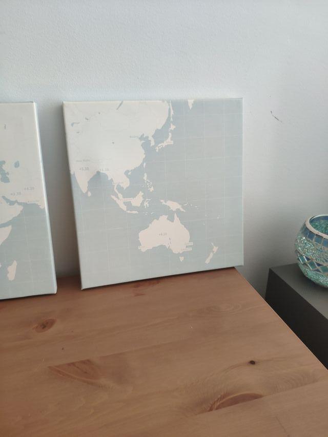 Cuadros lienzo Ikea mapa mundi Pjatteryd deco