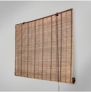 Estor enrollable de bambú