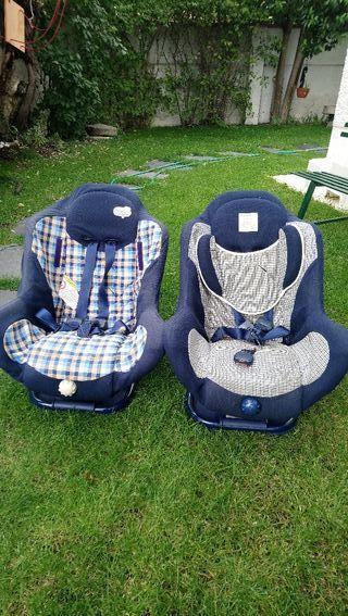 Dos sillas coches Bebé Confort