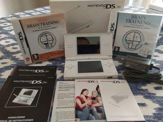 Nintendo ds lite blanca mas juegos
