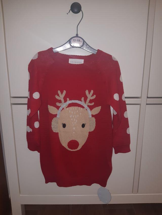Vestido navideño Primark talla 12 - 18 meses