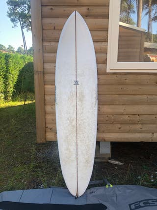"Tabla surf morning of the earth 7,6"" twin fin"