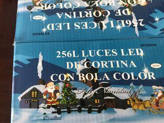 256 L LED LUZ DE CORTINA