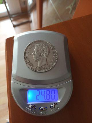 moneda 5 pesetas 1871