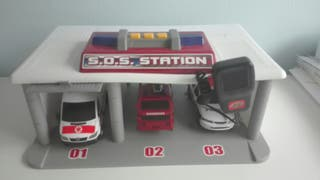 Estación central con 3 coches.