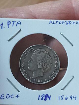 moneda 1 peseta 1894