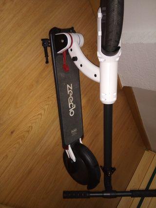 patinete híbrido,cargador, caja y ticket de compr