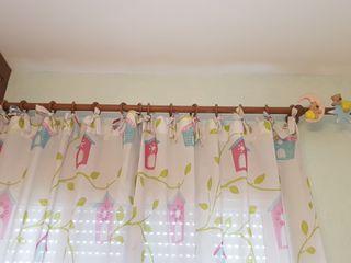 Barra cortina madera